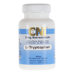L-Tryptophan 500mg Supplement, 60 capsules, CNI