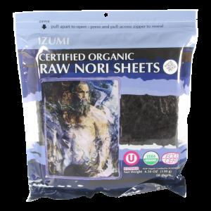 Raw Organic Nori Sheet, 50-pack, Izumi Brand