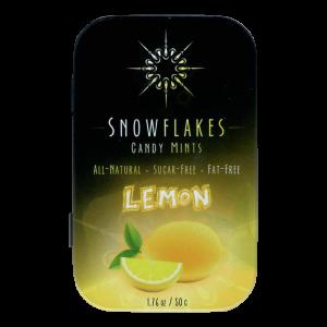 Snowflakes Xylitol Candy Tin | Lemon