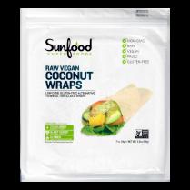 Coconut Wraps, Raw Vegan, 7 ct (14 g) Each