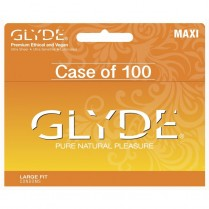 GLYDE Maxi, Vegan Condoms, Large Fit, 100-Pack