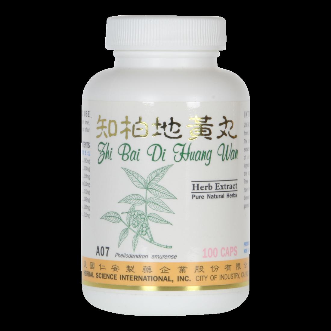 Zhi Bai Kidney Tonic A07 100 Capsules Traditional
